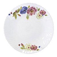 Тарелка фарфоровая обеденная с рисунком, 24см