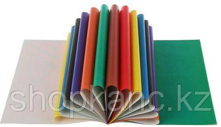 Цветная бумага A4, 16 листов, 16 цветов, немелованный, на скобе.