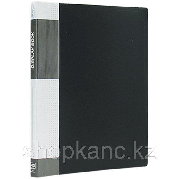 """Папка """"Standard"""" с 40 вкладышами, 21 мм, 600 мкм, черная."""
