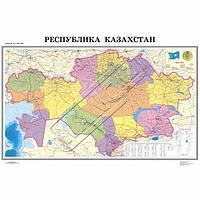 Карта РК 1:1,5 млн. полит. админ. (ламин)