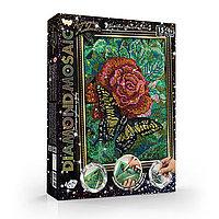 Набор креативного творчества «Diamond Mosaic Роза с бабочкой» малый