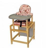 """Стол-стул для кормления Вилт """"СТД-07"""", (СТД0706 розовый + серый)"""