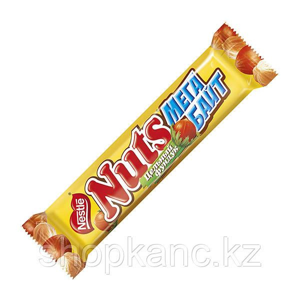 NUTS шоколадный батончик мегабайт 24*66г