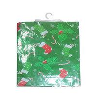 Скатерть Новогодняя 100% полиэстр на фланелевой основе, размер 132*220см.