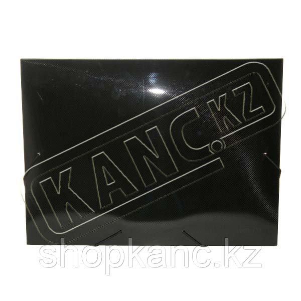 Папка А4 20 мм с резинкой дымчатая полупрозрачная 0,70 мм (пластик-м)