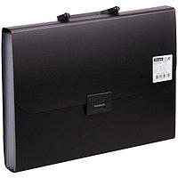 Портфель на 7 отделений, 700 мкм, цвет черный.