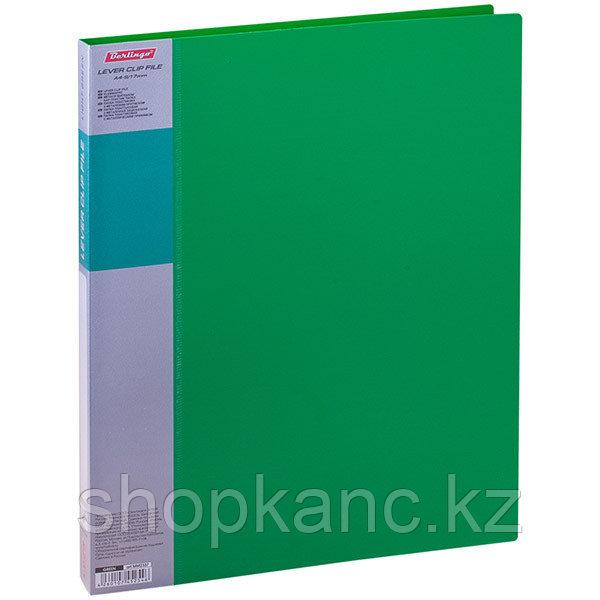 Папка с зажимом Standard, 17 мм, 700 мкм, цвет зеленый.