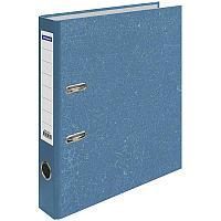 Папка-регистратор 50мм, мрамор, синяя