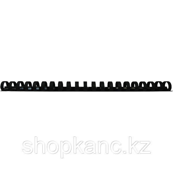 Пружина для переплета пластиковая 14 мм Proff, черная, 100 штук/в упаковке.