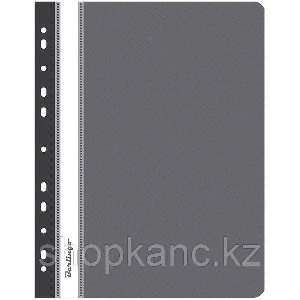 Папка-скоросшиватель пластик. перф. А4, 180мкм, черная.