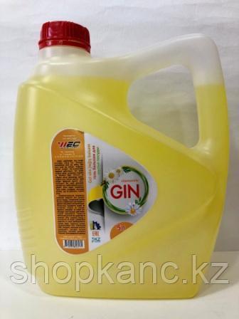 """Гель бальзам для мытья посуды с экстрактом ромашки """" Gin"""" 5 л ,ПЭТ"""
