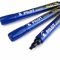 Маркер перманентный Pilot SCA-400 1-4мм клиновидный синий