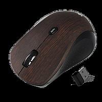 Мышка беспроводная, разрешение сенсора 1000DPI, CMM - 929W, цвет коричневый