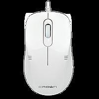 Мышка оптическая проводная USB,DPI  1000, CMM-502, цвет белый