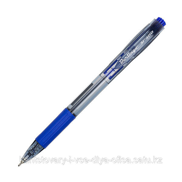 Ручка шариковая автоматическая, SI-400, синяя, 0,7 мм, грип.