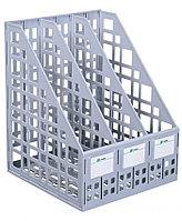 Лоток сборный вертикальный 3 отделения серый