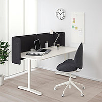 БЕКАНТ Стол для приемной, белый, белый 160x80 55 см, фото 1