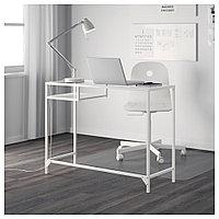 ВИТШЁ Стол д/ноутбука, белый, стекло, белый/стекло 100x36 см, фото 1