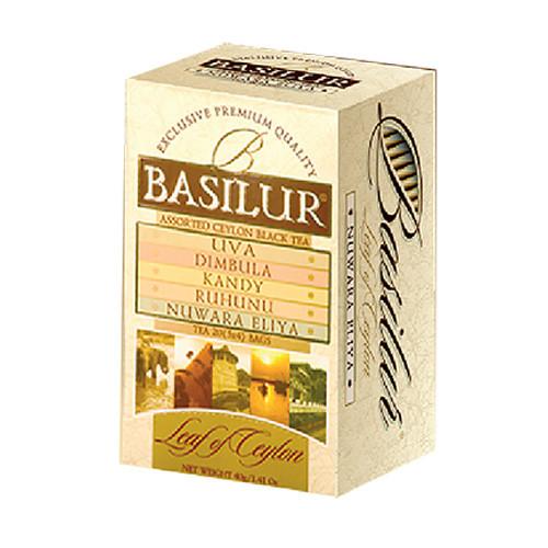 Чай черный пакетированный Лист Цейлона Ассорти Лист Цейлона Assorted Leaf of Ceylon, 20пак Basilur
