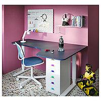 ОРФЬЕЛЛЬ Рабочий стул, белый, Висле синий, белый/Висле синий, фото 1