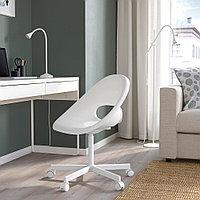 ЛОБЕРГЕТ / БЛИСКЭР Рабочий стул, белый, белый, фото 1