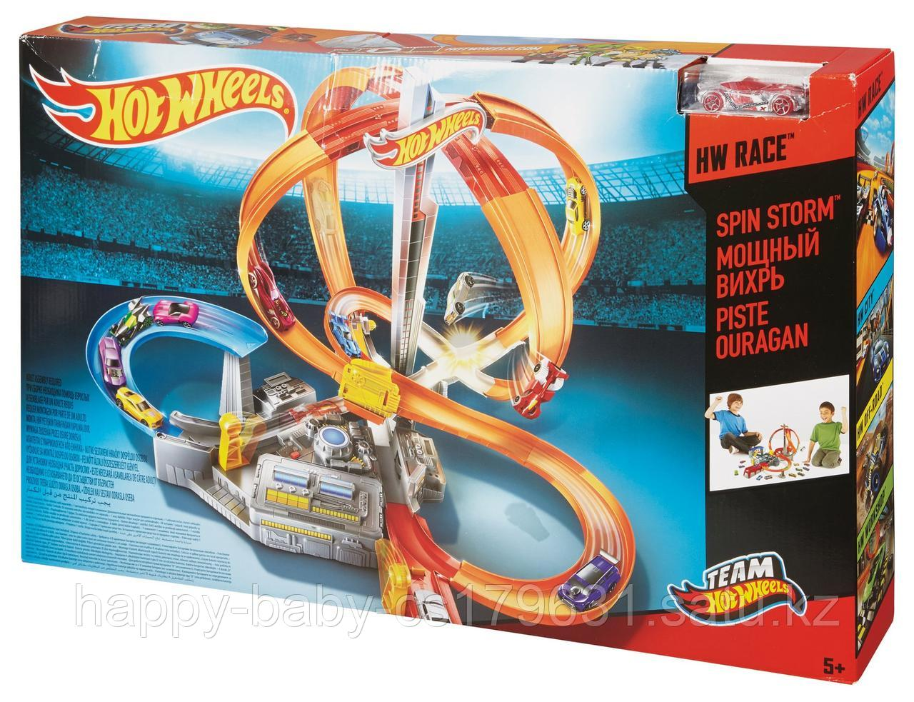 Hot wheels Spin Storm Хот Вилс игровой набор Мощный вихрь.