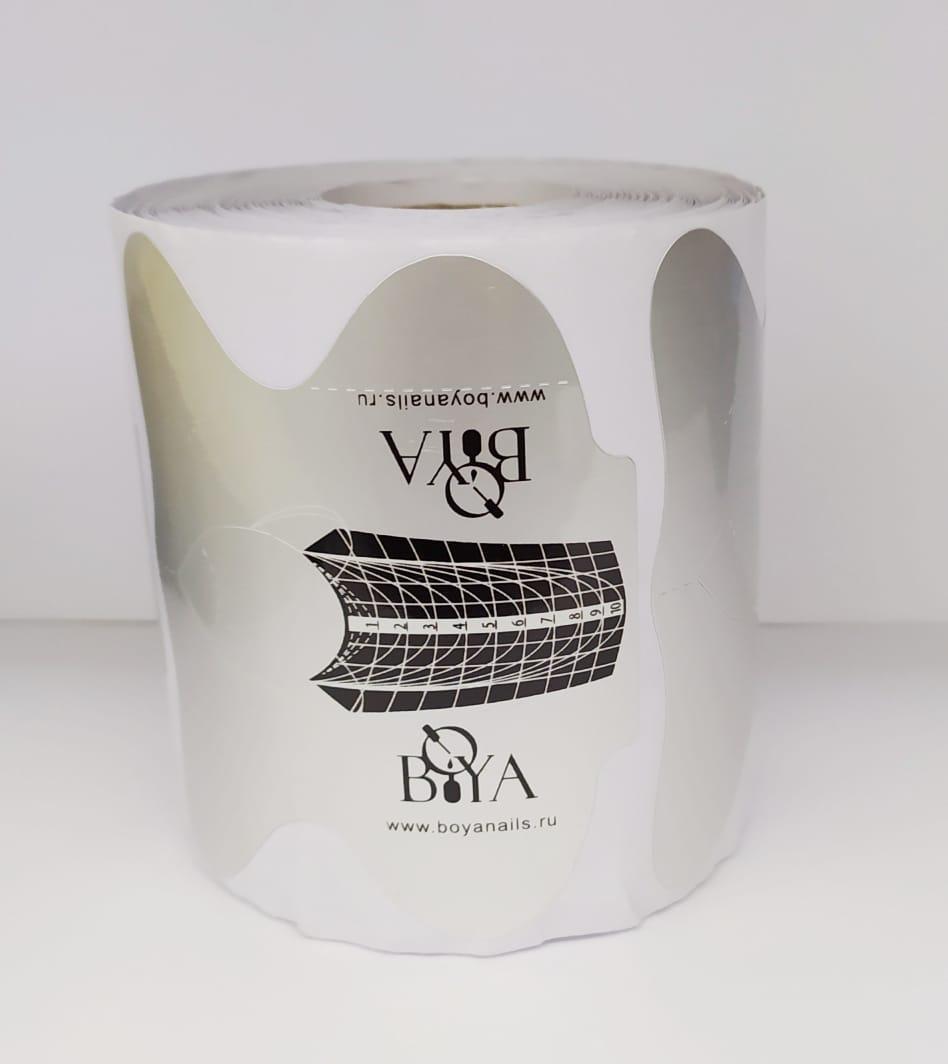 Одноразовые бумажные формы BOYA серебро 250 шт