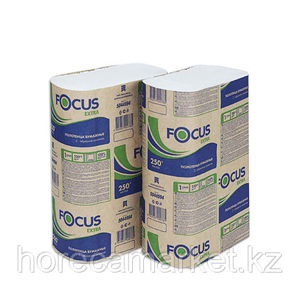 Полотенца бум. Focus Extra Z-слож. 1-сл 250 шт в коробке 12 уп, фото 2