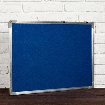 Доска с текстильным покрытием наст., 60*90см, метал. рамка