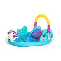 Детский надувной игровой бассейн BESTWAY Magical Unicorn Carriage (274x198x137см, 53097)