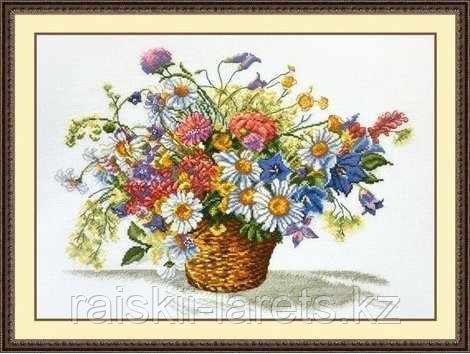 """Набор для вышивания крестиком """"Луговые цветы"""" 862"""