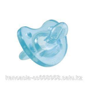 Chicco Пустышка  силиконовая физио софт, Chicco, голубая, от 12 месяцев