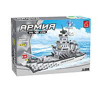 Игровой конструктор Ausini 22110 Армия Большой ракетный крейсер 1276 детали Цветная коробка