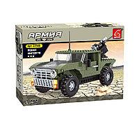 Игровой конструктор Ausini 22508 Армия Армейский джип 299 деталей Цветная коробка