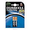 Батарейка DURACELL TurboMax AAA 2шт 1.5V LR03 (мизиньчиковые)