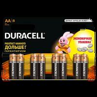 Батарейка DURACELL Basic AA 8шт 1.5V LR6 (пальчиковые)