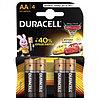 Батарейка DURACELL Basic АА 4шт LR6 (пальчиковые)