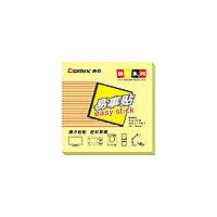 Стикеры бумажные самоклеющиеся Comix D5002 76х76 мм. 100 л. упак./12 шт. Жёлтый