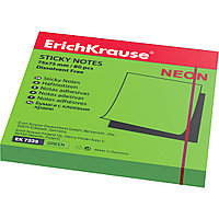 Бумага для заметок с клеевым краем ErichKrause® 7335 Neon 75х75 мм 80 листов в пленке 10 шт. зеленый