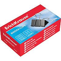 Зажимы для бумаг ErichKrause® 25087 25мм 12 кор./упак. (коробка 12 зажимов)