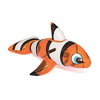 Надувная игрушка для катания верхом Рыба-клоун 157 х 94 см BESTWAY 41088 Винил Оранжевый Цветная коробка