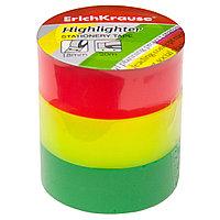 Клейкая лента ErichKrause® 40201 Highlighter 18ммх20м (в пленке по 3 ленты)