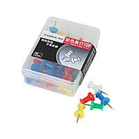 Кнопки силовые Comix B3547 цветные коробка 35 кнопок 10 кор./упак. в ассортименте
