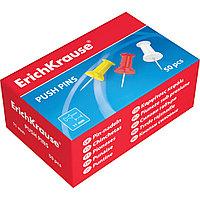 Кнопки силовые ErichKrause® 24877 цветные 24 кор./упак. (коробка 50 кнопок)