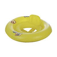 Круг для плавания Swim Safe 69 см (Ступень А) BESTWAY 32027 Винил С сидением и спинкой Двухкамерный Желтый