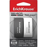 Ластик ErichKrause® 34642 Sensor Black&White (в блистере по 2шт.)