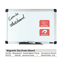 Доска магнитно-маркерная Comix BO1218 Настенная 120*180 см с полкой для аксессуаров Белый