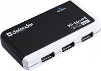 Хаб 4-портовый мини-разветвитель USB 2.0 Defender Quadro Infix., фото 1