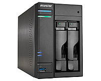 Сетевой накопитель ASUSTOR AS6302T 2-Bay NAS, Intel Celeron Dual-Core, 2GB SO-DIMM DDR3L, 1GbE x 2, USB 3.0