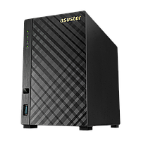 Сетевой накопитель ASUSTOR AS3102T v2, 2-Bay NAS, Intel Celeron Dual-Core, 2 GB SO-DIMM DDR3L, GbE x 1, USB